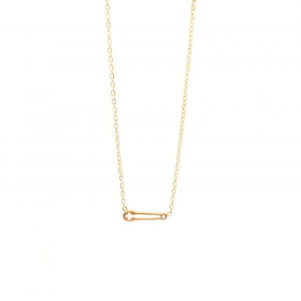 colar alfinete gold