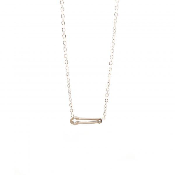 colar alfinete silver