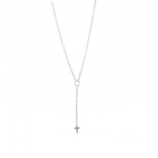 colar cruz II silver