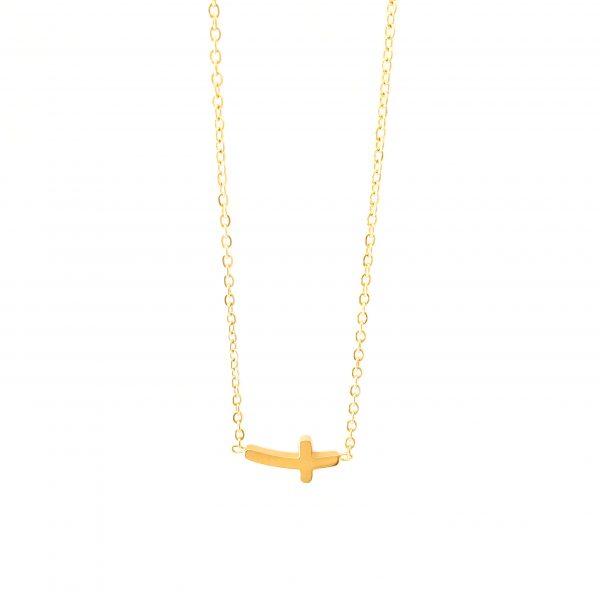 colar cruz gold
