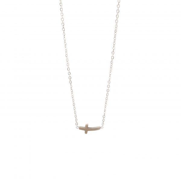colar cruz silver