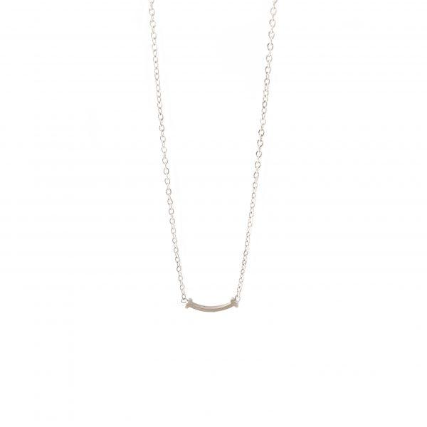 colar simile silver