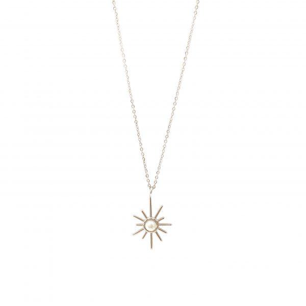 colar star pearl silver