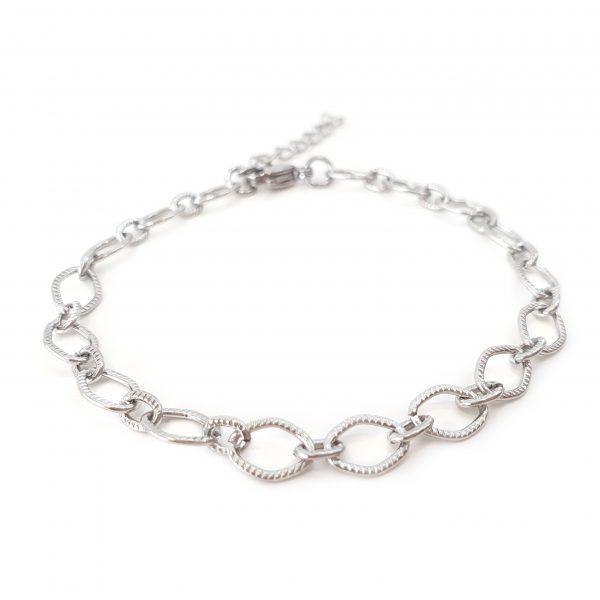 pulseira corrente silver